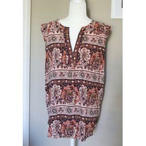 Loft | floral nature print sleeveless blouse